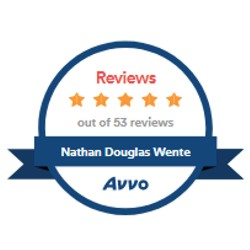 AVVO 5 star review badge