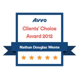 AVVO clients choice 2012 badge